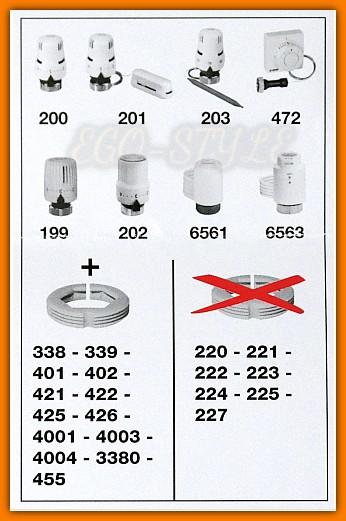 adapter głowicy termostatycznej F36077 Caleffi Ferro do zaworów termostatycznych