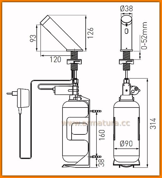 BBB112 FERRO dozownik Mistral Sensor