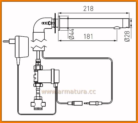 BBB121SM FERRO Bateria bezdotykowa umywalkowa Bora Sensor