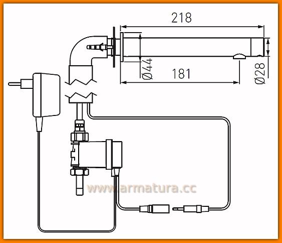 BBB121S FERRO Bateria bezdotykowa umywalkowa Bora Sensor