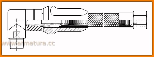 Wąż do gazu WGS2000 FERRO przyłącze gazowe