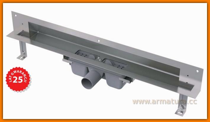 Odpływ liniowy APZ5-TWIN-650 Spa AlcaPLAST 65 cm odwodnienie liniowe ścienne