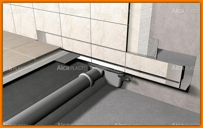 Odpływ liniowy APZ5-SHADE-1050 Spa AlcaPLAST 105 cm odwodnienie liniowe ścienne