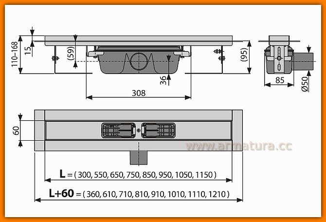 ALCAPLAST odwodnienie liniowe APZ6-850 Professional odpływ liniowy