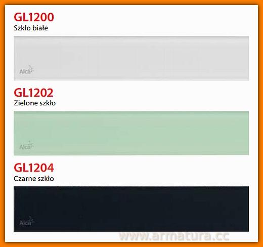 GL1204-300 Ruszt szklany czarny do odwodnienia liniowego APZ6 AlcaPlast
