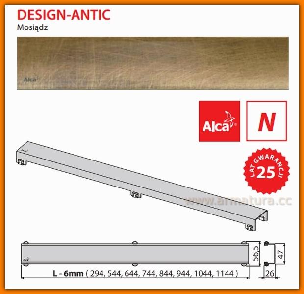DESIGN-850ANTIC Ruszt do odwodnienia liniowego APZ6 AlcaPlast