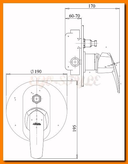 bateria natryskowa podtynkowa prysznicowa METALIA 56 FERRO 56050R.0