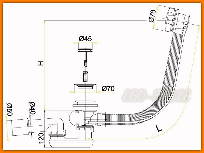 syfon wannowy A55K ALCAPLAST automatyczny