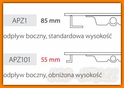 Odpływ liniowy APZ101-950 AlcaPLAST 95cm odwodnienie liniowe NISKIE