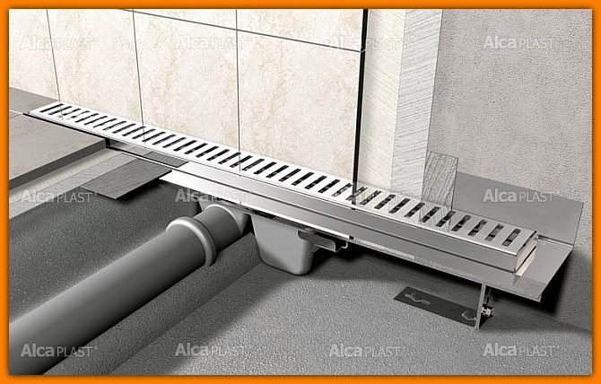 Odpływ liniowy APZ16-1050 AlcaPLAST 75 cm Flexible odwodnienie liniowe z wygiętym kołnierzem