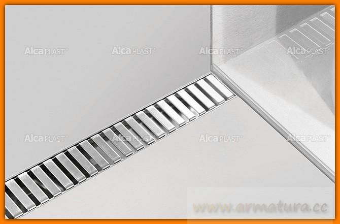 Odpływ liniowy APZ16-1050 wall AlcaPLAST 75 cm Flexible odwodnienie liniowe z wygiętym kołnierzem