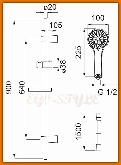 zestaw natryskowy termostatyczny TAM77 FERRO