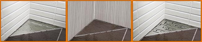 LORAC PAN odpływ narożny trójkątny TOL-P25
