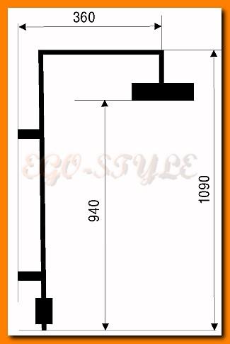 zestaw natryskowy deszczownica FERRO SET060/1.0 do baterii podtynkowej