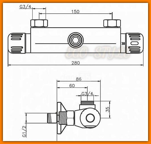 bateria natryskowa 2661/1.0 FERRO AQUAMAT termostatyczna