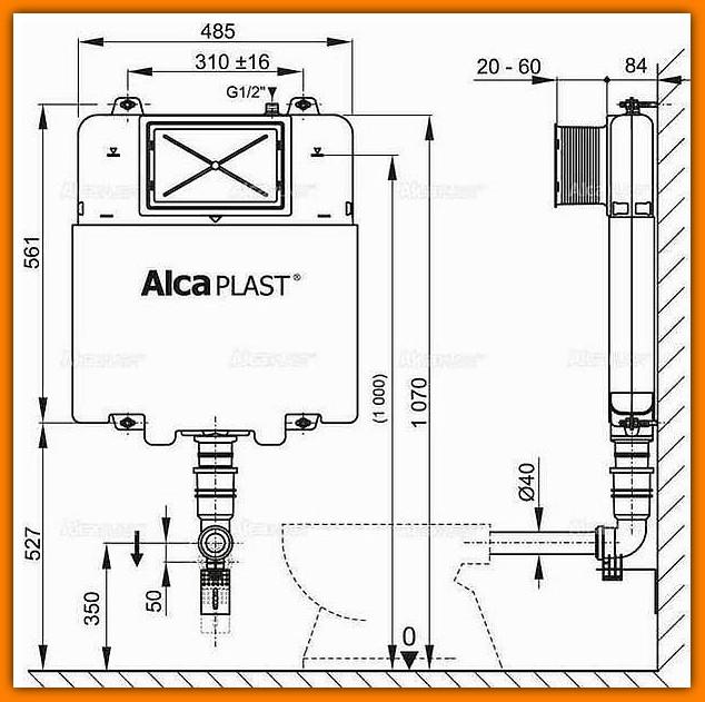 spłuczka A1112 Basicmodul Slim ALCAPLAST podtynkowa