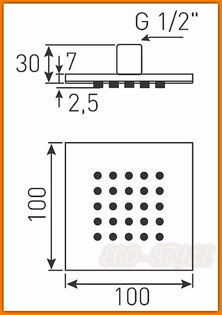 Dysza natryskowa QUADRO DSP02 FERRO