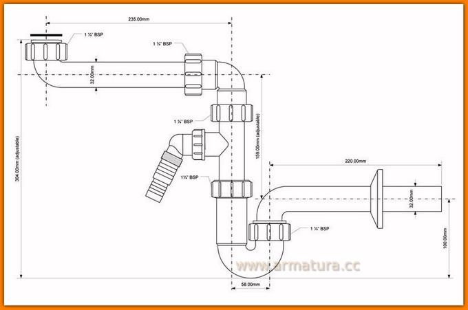 Pół syfon umywalkowy HC4PF-32SPSW McAlpine oszczędza miejsce