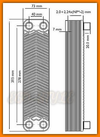 Zestaw wymiennikowy pompowy WEBERMAN IC8x2440Z FERRO 24-płytowy