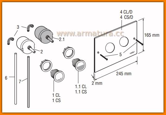 Pompka przycisku pneumatycznego biała VALSIR 802564