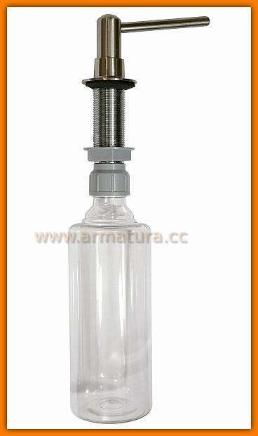 Dozownik płynu mydła mosiądz STAL Szczotkowana McALPINE HC20-SN