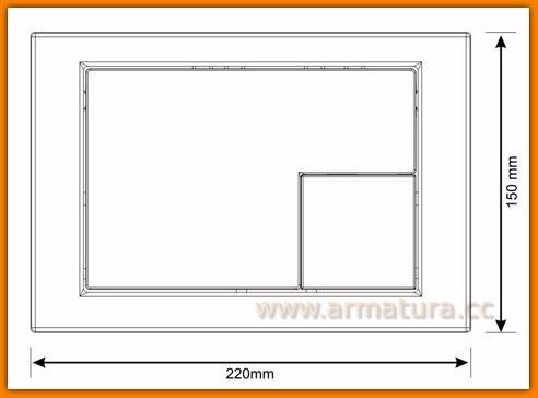 Przycisk spłukujący WC Cersanit LINK kwadrat K97-175