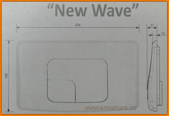 Przycisk WC ASTRA Chrom MAT satyna K97-132 Cersanit Siamp